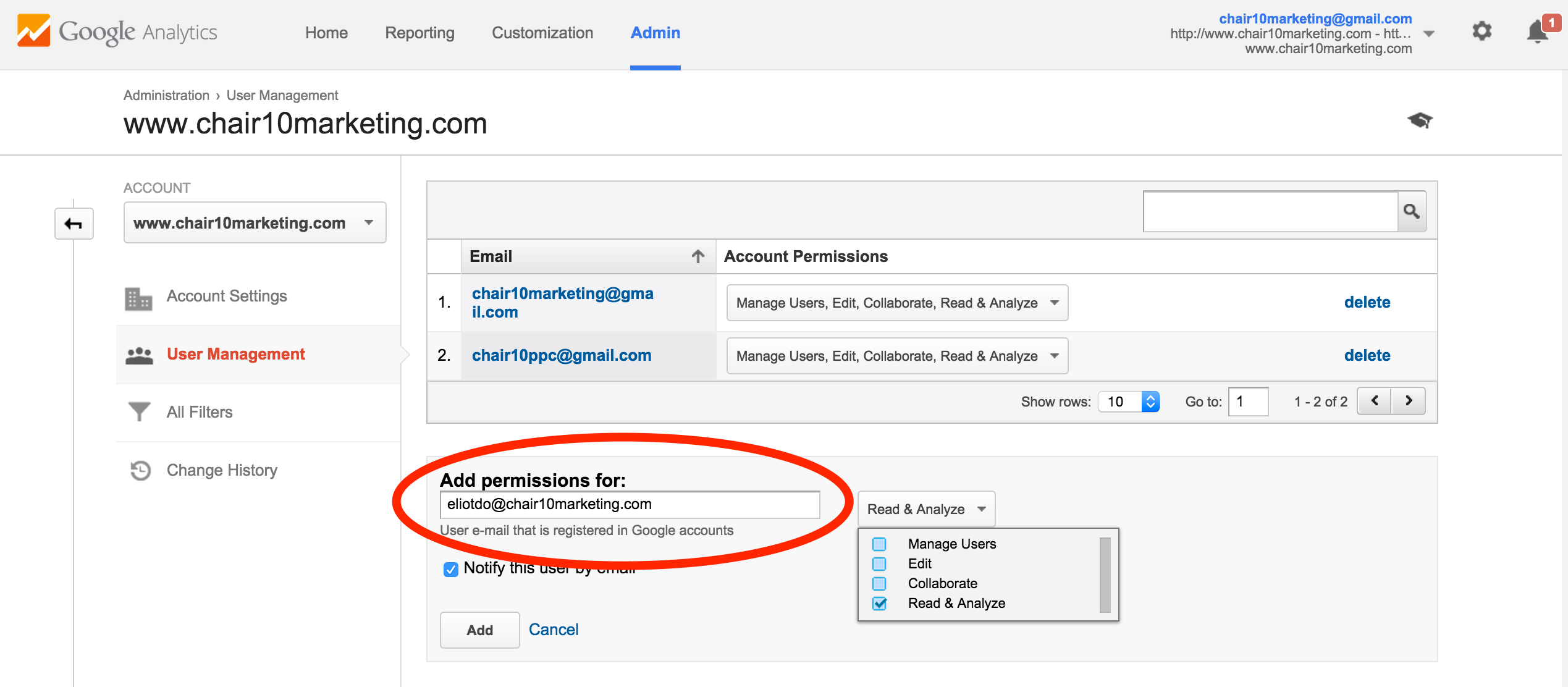 how to grant access on google drive