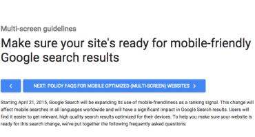 Google Mobile-Friendly Alert