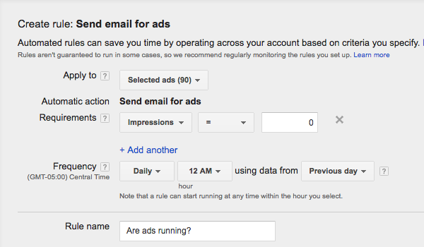 adwords automated rules ppc