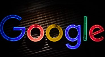 Google logo sign in neon text